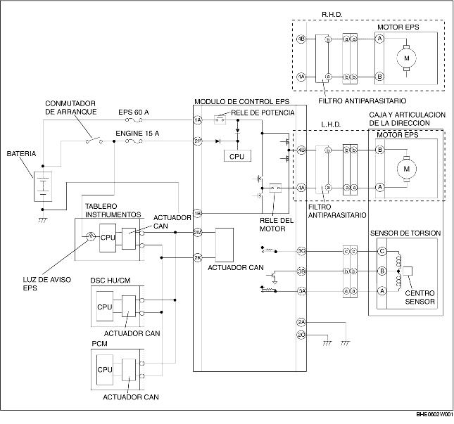Diagrama De Cableado Sistema Direccion Asistida Electrica Eps
